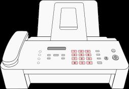 Faxgerät im Schreibbuero